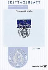BRD 2002: Otto von Guericke! Ersttagsblatt der Nr 2282 mit Bonner Stempel! 1702