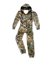Stealth Camo Onesie Mens Tree Camouflage Jumpsuit Warm Fishing Hunting All in 1 S