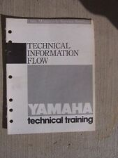 1986 Yamaha Motorcycle Service Manual Technical Information Flow Dealership  L