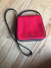 City DKNY Red Shoulder Handbag Baguette Purse