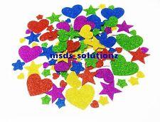 Más de 125 3D Brillo Pegajoso Espuma Pegatinas Autoadhesivas Corazón/Star formas Niños Arte