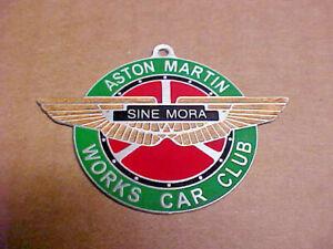 Aston Martin Sine Mora Car Club Key Fob Acid Etched