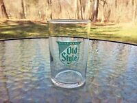 Vtg Heilemans Old Style Brewery Drink Beer Tasting Sample Glass 1950s