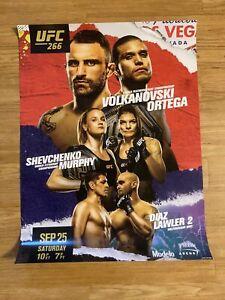 New UFC 266 Official Poster Volkanovski Ortega Shevchenko Murphy Diaz Lawler