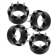 "4pcs 75mm Black 8x170 Wheel Spacers Ford F250 F350 Excursion SuperDuty 3"" 14x1.5"