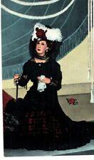 POSTCARD LILLIAN RUSSELL GAY NINETIES WAX FIGURE BY LEWIS SORENSON SANTA CLAUS L