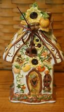 New ListingNew Blue Sky Clayworks Fall Halloween Pumpkin House Jack O Lantern Candle