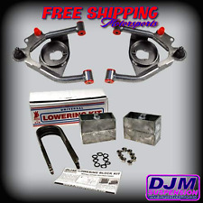 "DJM Suspension S10 S15 Sonoma Blazer 3"" Lowering Drop Control Arm 4"" Blocks kit"