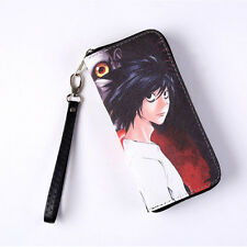 Anime Death Note PU Long Wallet with Zipper Printed w-L.Lawliet