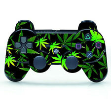 PLEASED GREEN LEAF COOL SKIN STICKER DECAL FOR PLAYSTATION 3 PS3 CONTROLLER