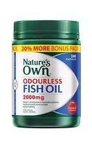 "NATURE'S OWN ODOURLESS FISH OIL 2000MG ""240 CAPSULES"" DOUBLE STRENGTH OMEGA-3"
