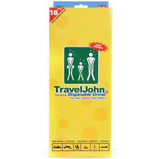 TravelJohn Travel John Disposable Resealable Urinal Urine Wee Bags Unisex 18 Pk