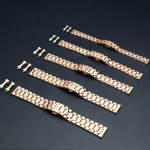 Solid Stainless Steel Watch Strap Band Replacement Bracelet 12-24mm+Curved End