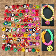 50x Silicone Loom Charms Cartoon Hangs for Rainbow Bands Bracelet Making Crafts