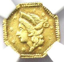 1853 Liberty 25C California Gold Quarter BG-101 R5. NGC UNC (MS) - Rarity-5!