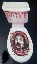 Halloween Horror Sangre Terror Mujer Zombie Scream Wc Decoración FREEPOST