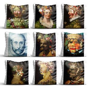 Painting By Giuseppe Arcimboldo High Quality Silk Pillow Cover Dec Cushion Case