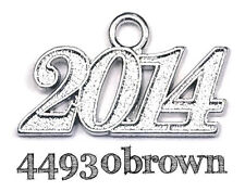 2014 NEW Graduation YEAR DATE Charm / Signet / Year Date for  Cap or  Bracelet