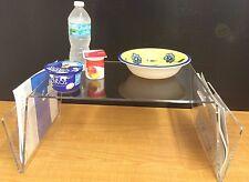 Acrylic Breakfast Bed Serving Multipurpose Tray Handles Laptop Stand TabDisplay