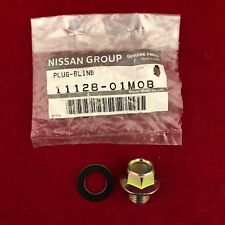 New Genuine OEM Nissan Engine Oil Drain Plug & Gasket 11128-01M0B Free Ship
