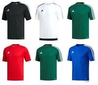 Adidas Mens Estro 15 Climalite Short Sleeve T Shirt Top Football S M L XL 2XL