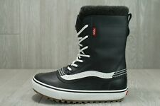 60 Vans Off The Wall Standard MTE Winter Snow Boots Black White 7.5 - 12 Mens