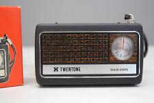 mid century Radio Taschenradio TWENTONE Neckermann mit Originalverpackung 60s De