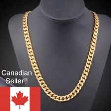 Fashion Curb Cuban Gold Chain 24 Inch 18k Gold Filled Men Necklace Chain