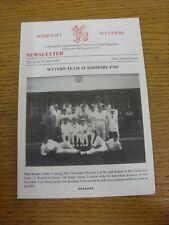 1997 Cricket: Somerset County Cricket Club - Somerset Wyverns Newsletter No.54.