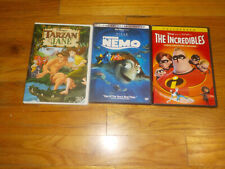 Finding Nemo / The Incredibles / Disney's Tarzan & Jane Dvd Lot Ellen Degeneres