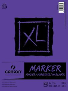 Canson XL Series Marker Paper Pad, Semi Translucent Pen and markers100 Sheets