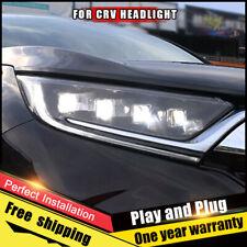 For Honda CR-V Headlights assembly LED Lens Double Beam ALL LED DRL 2017-2019