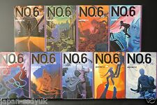 JAPAN Atsuko Asano novel: No. 6 (Number six) 1~9 Tankoubon version Complete Set