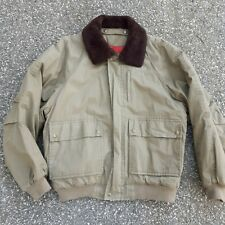 Vintage Timberland Weathergear Shearling Collar Aviator Bomber Jacket Quilted