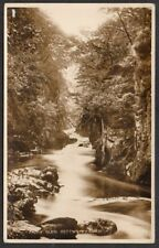 GB - 1931 Vintage Postcard Fairy Glen, Bettws-y-Coed, LLandudno Postmark