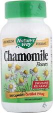 Chamomile Flowers, Nature's Way, 100 capsule