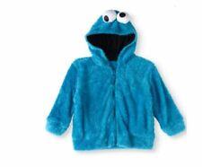 Cookie Monster Sesame Street Soft Faux Fur Kids Unisex Costume Hoodie Size 5T