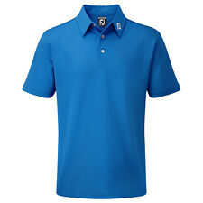 FootJoy Mens Stretch Pique Solid Polo Shirt - FJ Tour Logo Golf Performance Tech