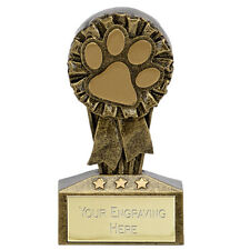 MICRO DOG SHOW AGILITY OBEDIENCE TROPHY SOLID RESIN PUPPY AWARD 7.75cm A1734