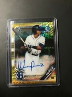Wenceel Perez 26/50 Auto Gold 2019 1st Bowman Chrome Shimmer CPA-WP Tigers MLB