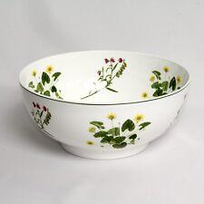 Vintage Welsh Wild Flowers Portmeirion Large Serving Bowl c.1994 10.5in Diam
