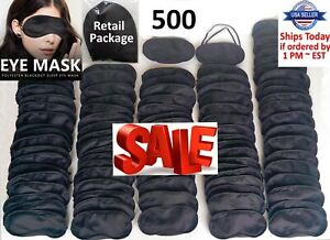 Travel Sleep Eye Mask 500 LOT Soft Sleeping blindfold rest relax aid WHOLESALE
