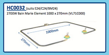 2700W Bain Marie Element 1000 x 270mm (Vl71C000) E24 C24 Bm24 Hc0032