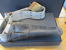 S38 US GUN HOLSTER LEATHER WEBBED BELT RIVETED FIELD GEAR MILITARY ADJUSTABLE