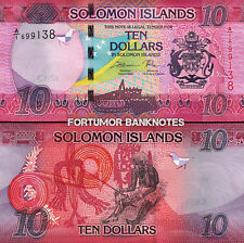 Solomon Islands 10 Dollars, 2017, Hybrid, UNC, P-New,Prefix A1