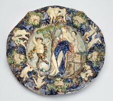 FRENCH BERNARD PALISSY FIGURAL MAJOLICA PLAQUE 16/17TH C.