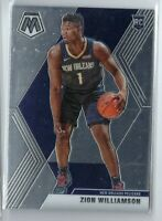 ZION WILLIAMSON 2019-20 PANINI MOSAIC BASE CARD ROOKIE RC #209 PELICANS
