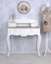 Console Table Secretary Shabby Chic Desk Wall Table White Computer Table Wood