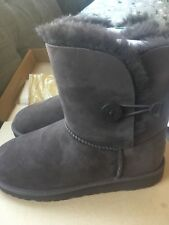 NEW NIB Authentic UGG Australia 5991Y Kids' Bailey Button Chocolate 6