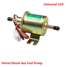 12V Electric Fuel Pump Shut-off Pressure GAS Diesel Inline Intank Petrol Pumps
